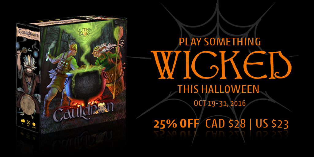 Play Something Wicked this Halloween - 25% off on Cauldron