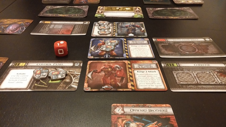 Space Hulk: Death Angel in play - only three marines out of six have survived