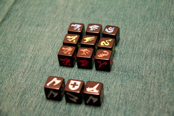 Excellent Custom Dice - note the different dragon designs