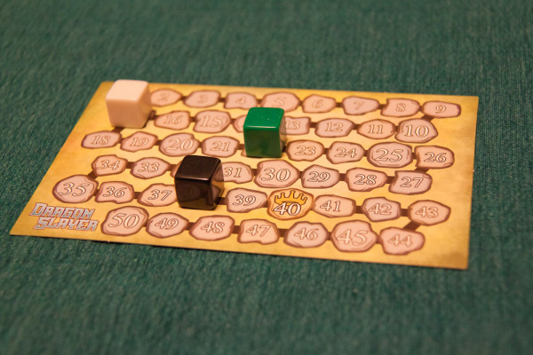 Game goes to 40 points - white and green better hope black gets some lousy rolls!