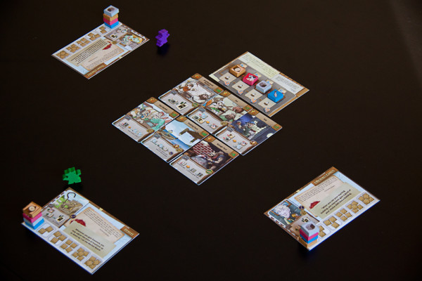 A three-player game of Harbour ready to play.