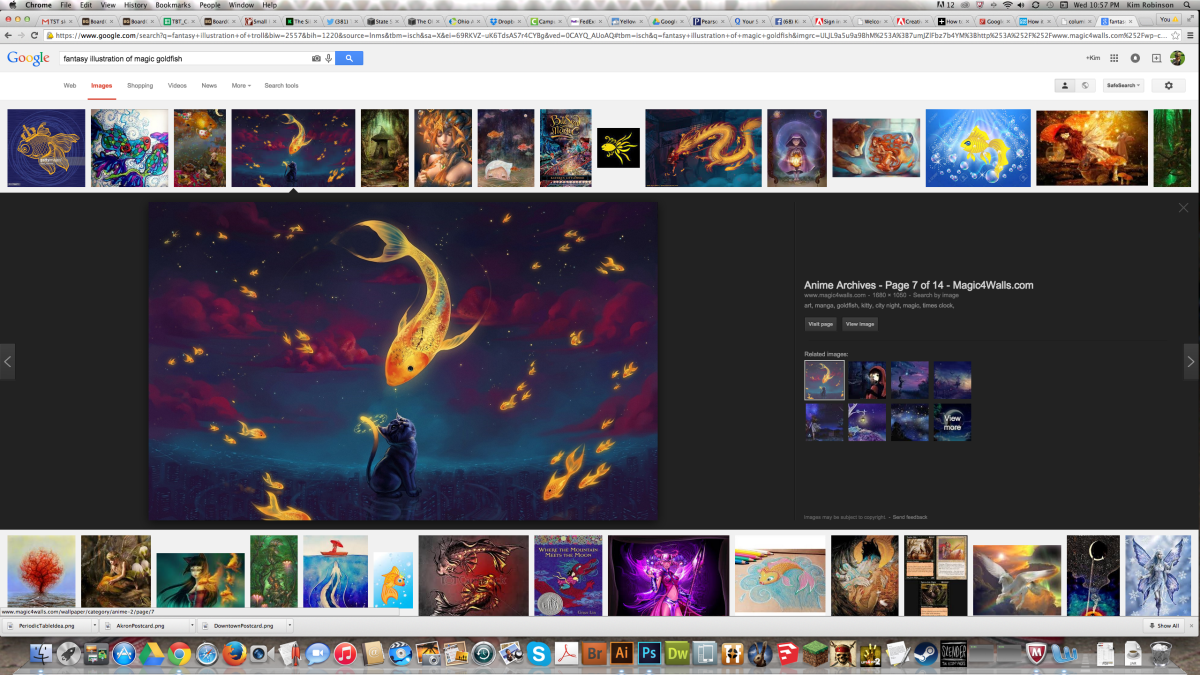 "Google Image Search for ""Fantasy Illustration of Magic Goldfish"""