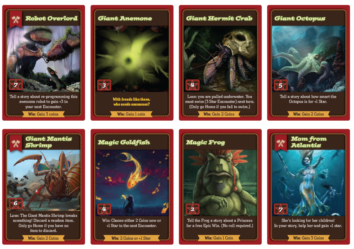 "Version 1 Designs for Mystic Waters Deck, March 2014, including ""Magic Goldfish"" Card"