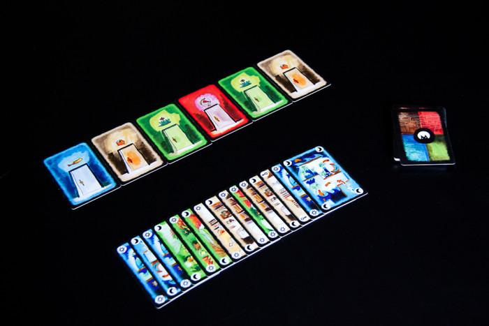A game of Onirim in progress