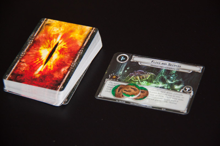 The encounter deck is filled with the hazards and enemies that block your way to victory.