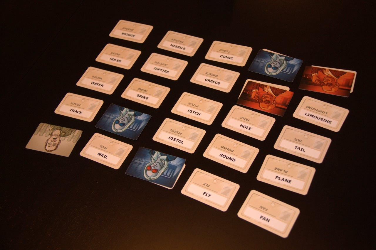 A game of Codenames in full swing. The clue is Bang, 4. Which words would you tap?